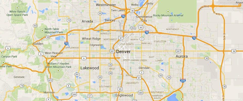 Denver Dumpster Rental Service Area Map